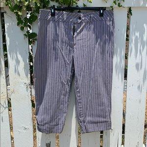 Capri striped pants